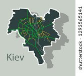 map of the districts of kiev ... | Shutterstock .eps vector #1293565141