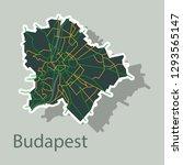 sticker scheme of the budapest  ...   Shutterstock .eps vector #1293565147