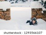 little cute boy is having fun... | Shutterstock . vector #1293566107