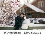 little cute boy is having fun... | Shutterstock . vector #1293566131
