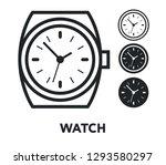 wrist watch clocks time. vector ...   Shutterstock .eps vector #1293580297
