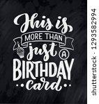 birthday lettering in retro... | Shutterstock .eps vector #1293582994