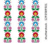 floral seamless folk art vector ... | Shutterstock .eps vector #1293589501