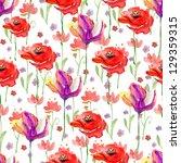 seamless floral pattern.... | Shutterstock . vector #129359315