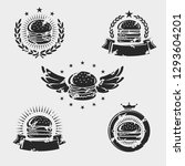 hamburger labels and elements...   Shutterstock .eps vector #1293604201