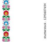 folk art vector greeting card... | Shutterstock .eps vector #1293607654