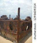Prow of 1935 stranded SS Maheno shipwreck - Fraser Island