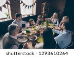 nice cheerful family small... | Shutterstock . vector #1293610264
