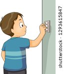 illustration of a kid boy... | Shutterstock .eps vector #1293615847