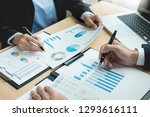 brainstorming group working... | Shutterstock . vector #1293616111