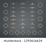 vintage decor elements and... | Shutterstock .eps vector #1293616624