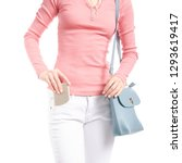 Woman In White Jeans And Pink...