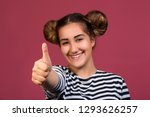 smiling young hipster girl with ... | Shutterstock . vector #1293626257