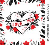 love you. love hand drawn... | Shutterstock .eps vector #1293627727