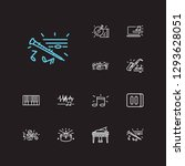 melody icons set. drums and...