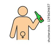 alcohol abuse color icon.... | Shutterstock .eps vector #1293634657