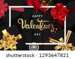 happy valentines day banner....   Shutterstock .eps vector #1293647821