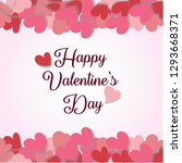 valentine's day sale background.... | Shutterstock .eps vector #1293668371