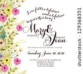 wedding invitation card with... | Shutterstock .eps vector #129368351
