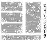 wedding invitation  thank you... | Shutterstock .eps vector #129368354