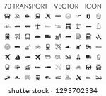 transport icons. airplane  bus  ... | Shutterstock .eps vector #1293702334