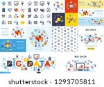 digital vector big data and... | Shutterstock .eps vector #1293705811