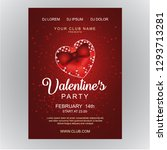 valentine's day  poster or... | Shutterstock .eps vector #1293713281