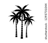 a palm tree vector set. | Shutterstock .eps vector #1293731044