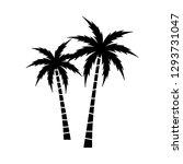 a palm tree vector set. | Shutterstock .eps vector #1293731047