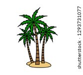 a palm tree vector set. | Shutterstock .eps vector #1293731077