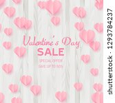 valentine's day sale card with... | Shutterstock .eps vector #1293784237
