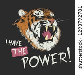 angry tiger is roars   i have... | Shutterstock .eps vector #1293792781