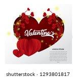 valentines day sale background... | Shutterstock .eps vector #1293801817