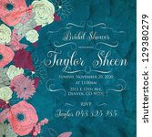 bridal shower invitation card | Shutterstock .eps vector #129380279
