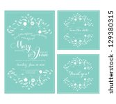 wedding invitation  thank you... | Shutterstock .eps vector #129380315