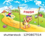 Stock photo children s fairy tales turtle with rabbit 1293807514
