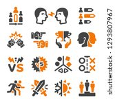rival enemy icon set vector and ... | Shutterstock .eps vector #1293807967