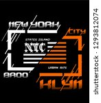nyc new york city stock vector... | Shutterstock .eps vector #1293812074