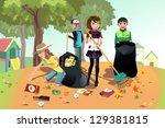 A Vector Illustration Of Kids...