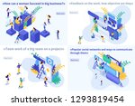set template article  isometric ... | Shutterstock .eps vector #1293819454