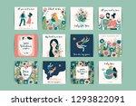romantic set of cute... | Shutterstock .eps vector #1293822091
