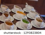 white cup for flavoring. | Shutterstock . vector #1293823804
