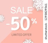 sale poster with percent and... | Shutterstock . vector #1293829561