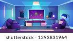 vector game room illustration ... | Shutterstock .eps vector #1293831964