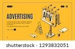 advertising agency isometric... | Shutterstock .eps vector #1293832051
