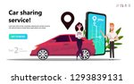 online carsharing. mobile city...