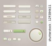 user interface elements ... | Shutterstock .eps vector #129384611