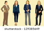 business women wearing pants... | Shutterstock .eps vector #129385649