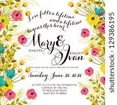 wedding invitation | Shutterstock .eps vector #129386195