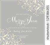 wedding invitation | Shutterstock .eps vector #129386201